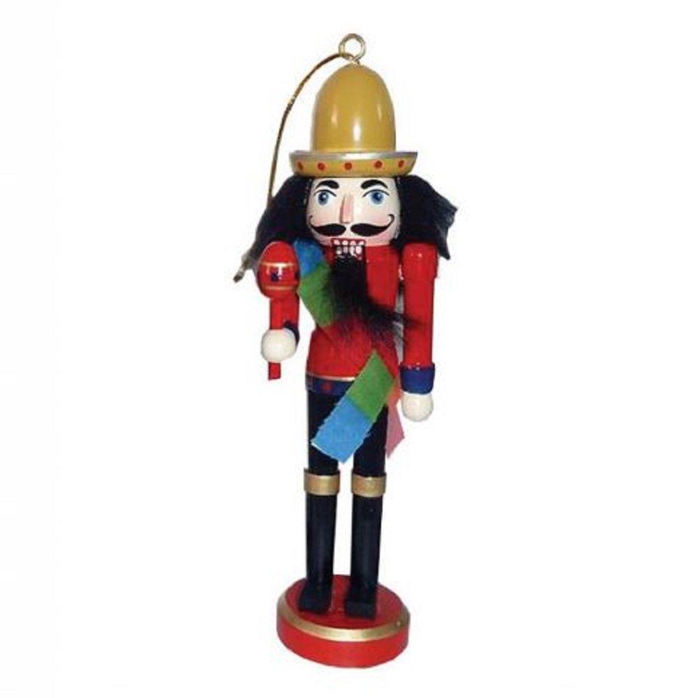 Santa's Workshop Inc Mexican Nutcracker with Maracas and Sombrero Wood Christmas Tree Ornament New