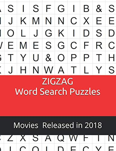 Zigzag Word Search Puzzles: Movies Released in 2018