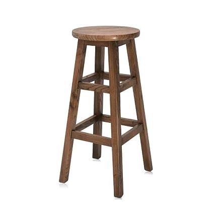 Miraculous Amazon Com Cjc Bar Stool Chair Pine Wood Natural Wooden Evergreenethics Interior Chair Design Evergreenethicsorg