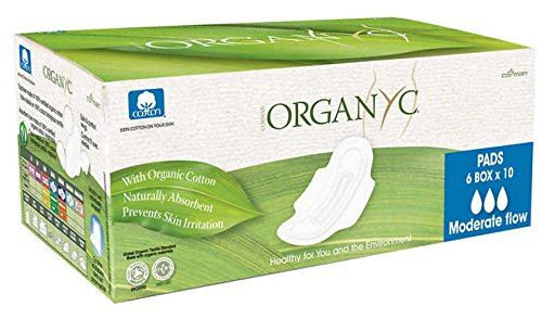 Organ(y)c Pads with Organic Cotton with Wings 60pads
