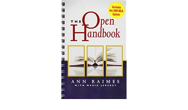 The Open Handbook: Keys for Writers (with 2009 MLA Update Card ...