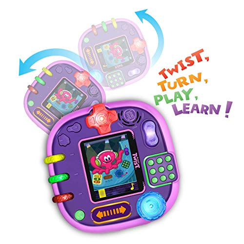 516yQDQnWTL - LeapFrog RockIt Twist Handheld Learning Game System, Purple