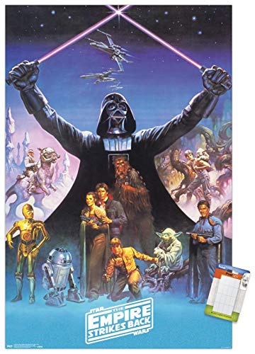 """Trends International Star Wars: The Empire Strikes Back 40Th-Darth Vader Mount Wall Poster, 14.725"""" x 22.375"""", Premium Poster & Mount Bundle"""