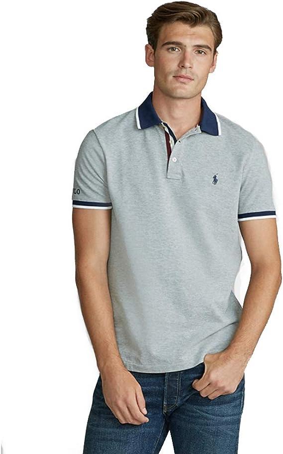 Polo Ralph Lauren Custom Slim Fit Mesh Polo: Amazon.es: Ropa y ...