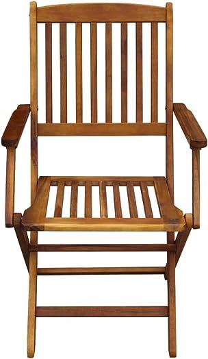 Festnight Set of 2 Outdoor Folding Dining Chair