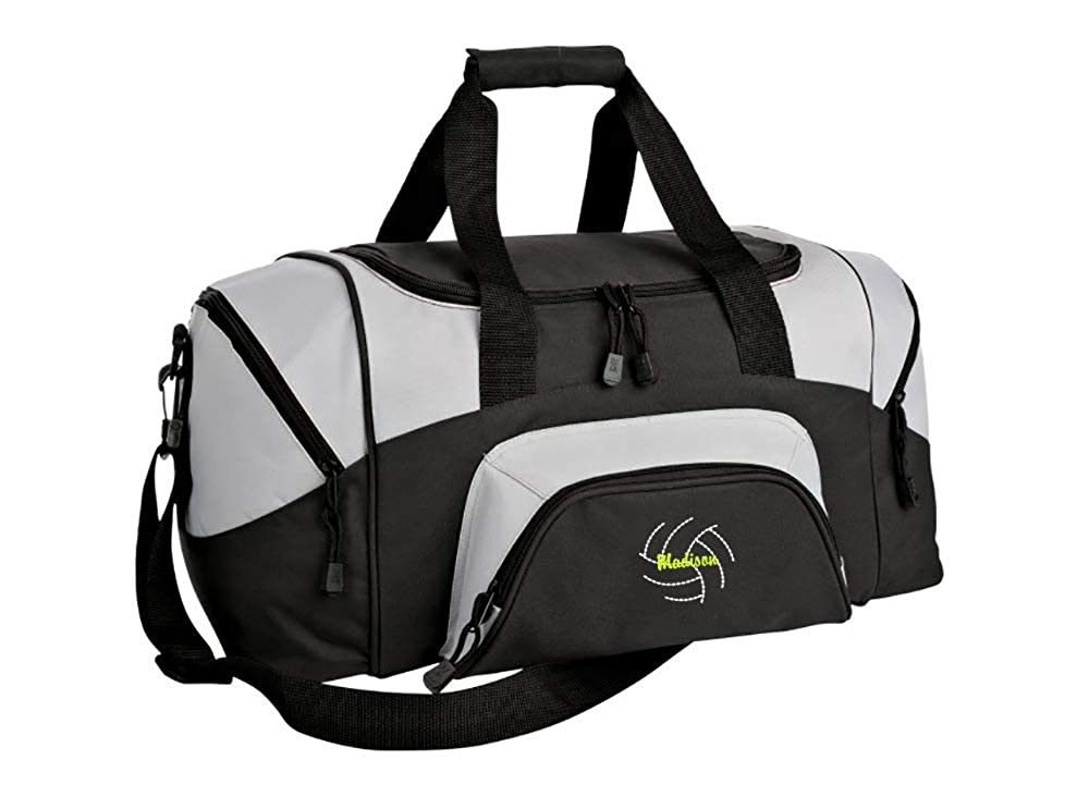 Colorblock Sport Small Duffle Bag Volleyball 2 Personalized