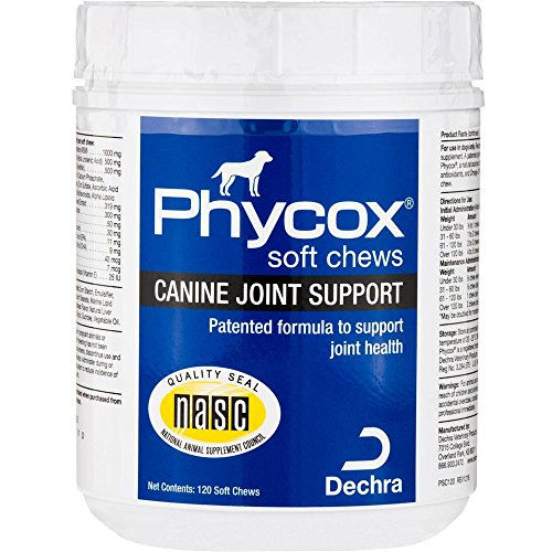 PhyCox Canine Joint Support Soft Chews for Dogs, 120 Count