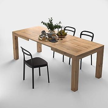 MOBILIFIVER Mesa de Cocina Extensible, Modelo Iacopo, Color Madera ...