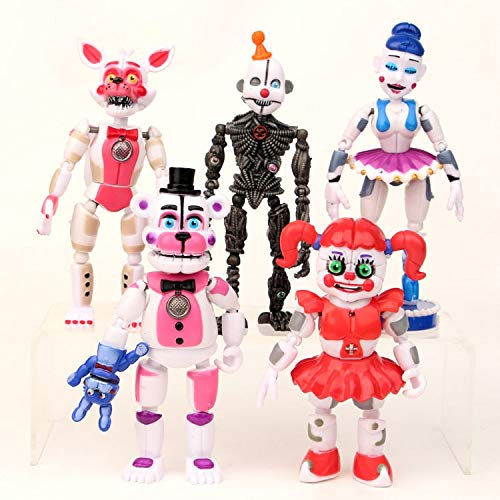VIET FG 5Pcs/Set FNAF Five Nights at Freddys Freddy 12-15Cm Action Figures Toys Brinquedo Toy Collectible Model Toys