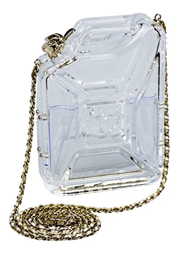 New Chanel Plexiglass Jerrycan Minaudiere Bag with Shoulder