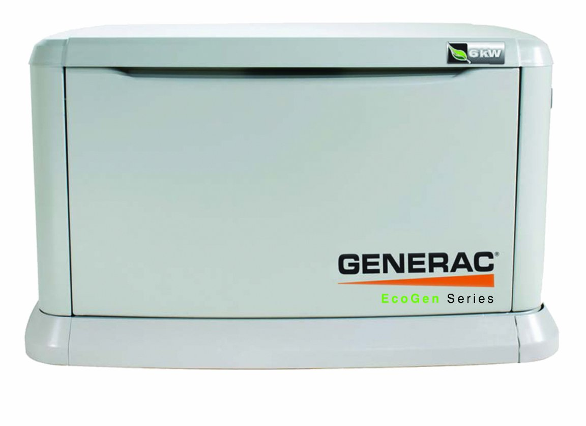 Amazon.com : Generac 5818 EcoGen Series, 6kW Air Cooled Standby Generator,  Liquid Propane Powered, Steel Enclosed (Discontinued by Manufacturer) :  Garden & ...