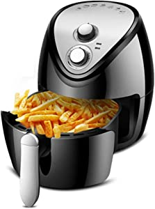 CN Cover 4.5L Large Capacity Air Fryer, Intelligent Oil-Free Electric Fryer with Evenly Heated and Take Out The Barrel and Power Off Protection Function