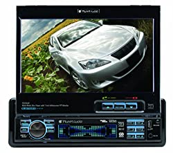 Planet Audio P9765b 7-inch Single-din In-dash Receiver With Motorized Flip-out Widescreen Touchscreen Monitor