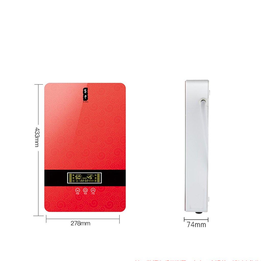 LJ Calentador de agua caliente de la temperatura constante del cuarto de baño instantáneo electrónico 8.5KW con la exhibición del LCD: Amazon.es: Bricolaje ...