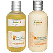 Nature's Baby Organics Shampoo and Body Wash and Nature's Baby Organics Conditioner and Detangler Bundle With Vanilla Tangerine, 8 fl. oz. (236.5 ml) each