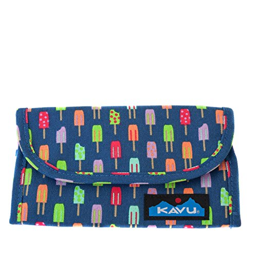 KAVU Big Spender Trifold Wallet Womens Clutch Travel Organizer - Popsicle Party