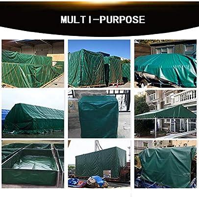 WONG WEI Fundas para Muebles de jardín Lonas Sombrilla De Tela Al Aire Libre Verde Que Acampa Camping Picnic Aislado Lona De Camión con Ojal Multi-tamaño Personalizable (Color : Green, Size :
