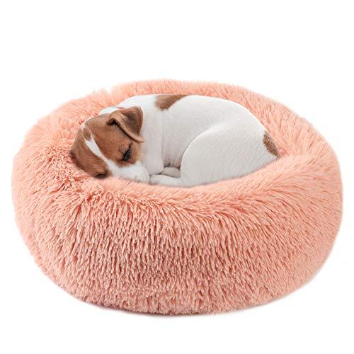 Vanansa Hundebett für Kleine Mittelgroße Hunde und Katzen, Rundes Katzenbett Flauschig, Komfort Hundebetten für Süßen…