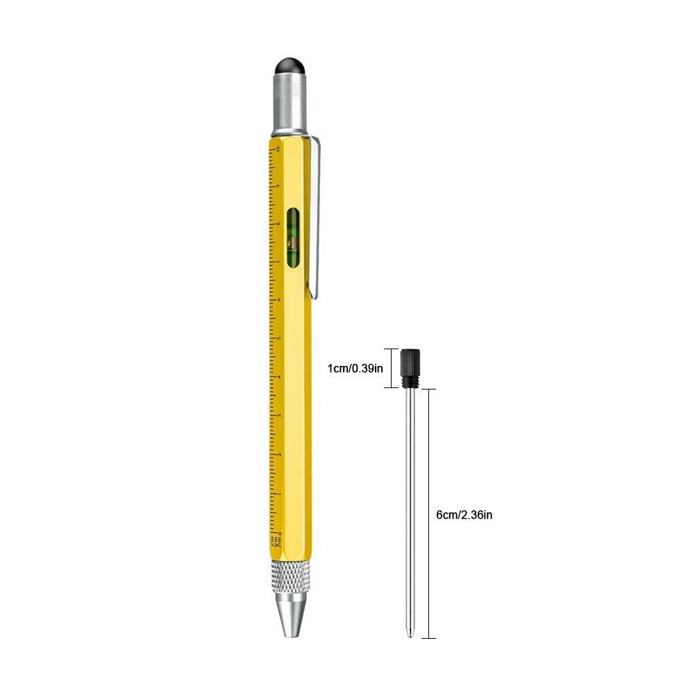Amteker 2.75\'\' Ballpoint Pen Refills, Replaceable Refills for Diamond Crystal Stylus Pens and Ballpoint Pens - Black Ink (Pack of 16)