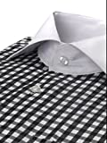 Mens Gingham Check Dress Shirt, Tie, Hanky and Cufflink Set - Many Colors Available