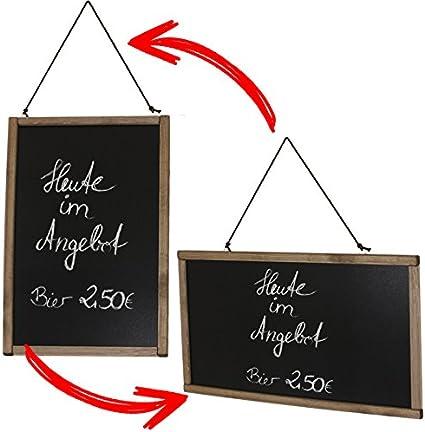 Wand Kundenstopper Angebot Restaurant Werbetafel Holztafel Men/ütafel Werbung Preisschild Holz natur