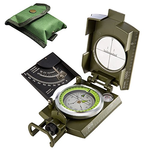 Permande Military Marching Compass - Waterproof and Shakeproof - Army Pocket Size - Easy Map Navigation Professional Grade Survival & Mapping Gear - for Outdoor, Camping and Hiking by Permande