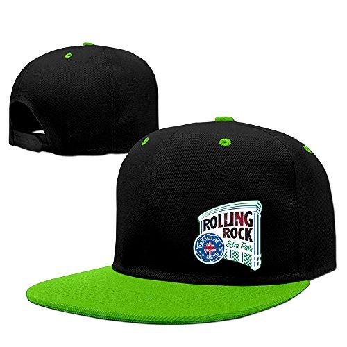 fashion-old-latrobe-rolling-rock-uk-hip-hop-snapback-baseball-cap-kellygreen