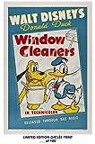 RARE POSTER walt disney's WINDOW CLEANERS donald duck 1940 vintage REPRINT #'d/100!! 12x18