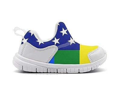 8b6f8b4ba10b1 Amazon.com | Kids Fin Gay Pride LGBT Slip on Sneakers Unisex ...