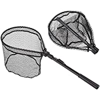 kissloves Folding Aluminum Fishing Landing Net with...