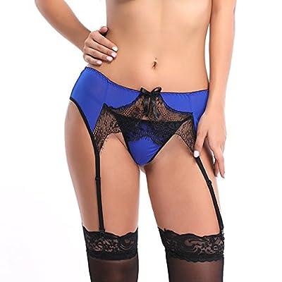 FeelinGirl Women Sexy Plus Size Garter Belt 2 Pieces M-XXL