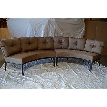 Amazon Com Cast Aluminum Curved Outdoor Sofa Elisabeth 2