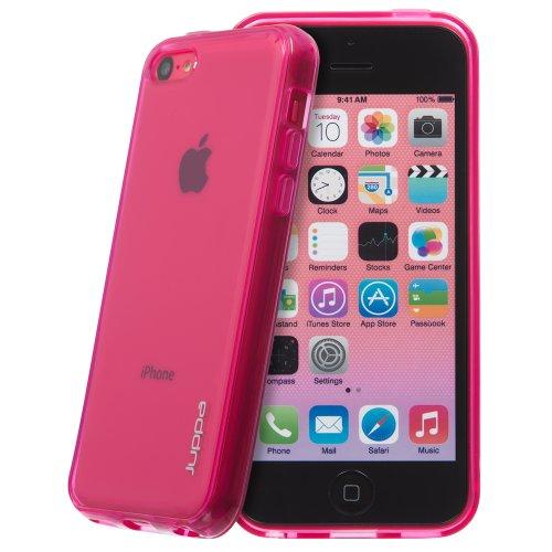 Juppa® Apple Iphone 5C TPU Silikon Tasche Hülle Schutzhülle mit LCD displayschutzfolie - Rosa / Pink