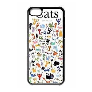 Cats New Fashion Case for Iphone 5C, Popular Cats Case