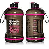 Best Gallon Water Bottles - H2OCOACH Half Gallon Sports Water Bottle with Time Review