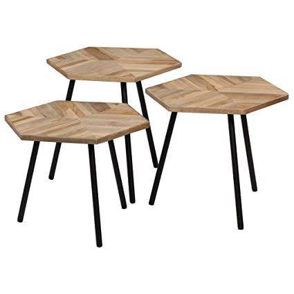 Tidyard Ensemble de Tables Basses 3 pcs | Tables Basses ...