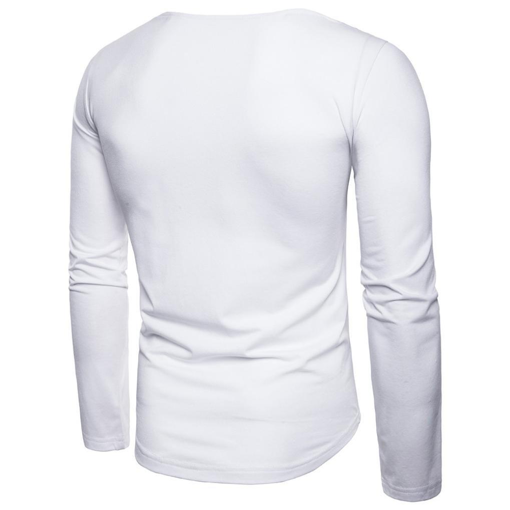 Resplend La Blusa Superior Delgada de Manga Larga de la Camiseta del Remiendo Ocasional de los Hombres de la Moda: Amazon.es: Ropa y accesorios