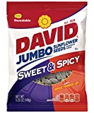 sweet spicy sunflower seeds - DAVID Roasted and Salted Sweet and Spicy Jumbo Sunflower Seeds, 5.25 oz