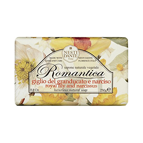 Nesti Dante Romantica Natural Soap, Royal Lily and Narcissus/Luxurious, 8.8 Ounce