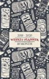 2019 - 2020 Weekly Planner, 18 Months: Vintage Tiki Masks will have you thinking about your time in the Islands while you keep an eye on your calendar ... schedule for a full 18 Months (Tiki Shack)