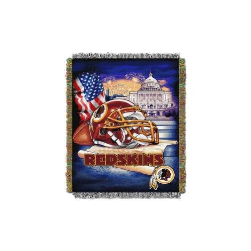The Northwest Company Washington Redskins NFL Woven Tapestry Throw (Home Field Advantage) (48x60) (2-Pack)