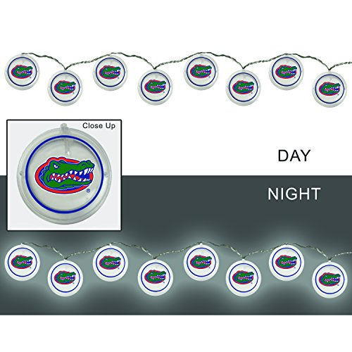 Team Sports America University of Florida Outdoor Safe Battery Powered String Light (Florida Gators Light)