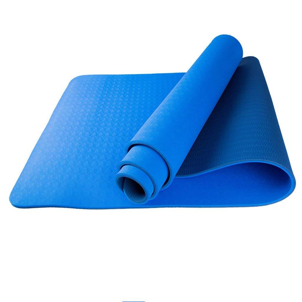 1 8mm Yogamatten, Fitness doppelseitig verdicken rutschfeste Matte Bewegung verlängern Fitnessdecke Gute Elastizität