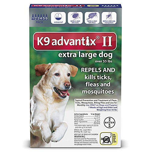 K9 Advantix II, Extra Large Dogs, Over 55-Pound, 6-Month