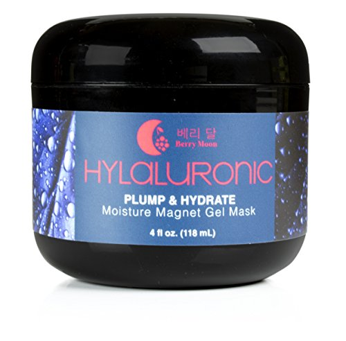 Berry Moon Anti-aging Hyaluronic Acid Mask for fine lines, wrinkles, and blemish prone skin. With collagen and Vitamin E. Large 4oz jar.