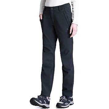 9e46c73b92ba5 CAMEL CROWN Femme Pantalon Cargo avec Doublure Polaire Pantalon de Sport Plein  Air Pantalon Softshell Pantalon