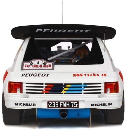 Peugeot 205 t16 evo 2 Rallye Tour de Corse 1986 bruno saby 1:12 Otto Mobile g021