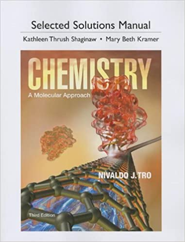 Selected Solutions Manual For Chemistry A Molecular Approach 3rd