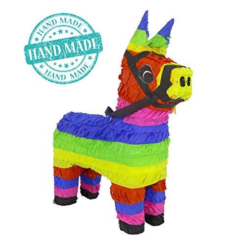 Aurabeam Original Classic Donkey Pinata (Rainbow Color) - Mexican Piñata - Handmade in Mexico from Aurabeam