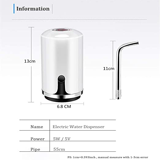 Dispensador De Agua Embotellada 5L 7.5L 4.5L Cold Bottle Faucet Automatic Eelectric Portable Drinking Water Pump Dispenser 003 (Black) - - Amazon.com